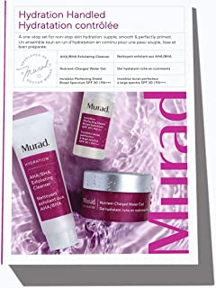 product image for Murad Hydration Handled Trial Kit - Skin Care Kit with AHA/BHA Exfoliating Cleanser, Nutrient-Charged Water Gel and Invisiblur Perfecting Shield Broad Spectrum SPF 30 - Hydrating Beauty Products Kit