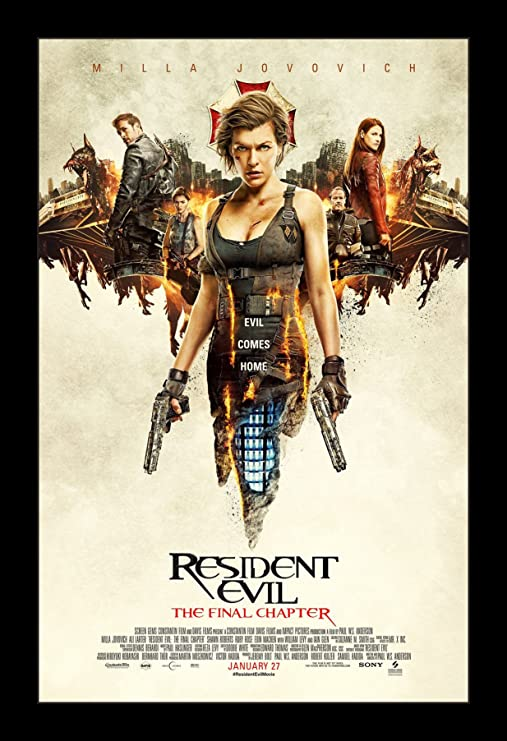 Amazon Com Resident Evil The Final Chapter 11x17 Framed Movie