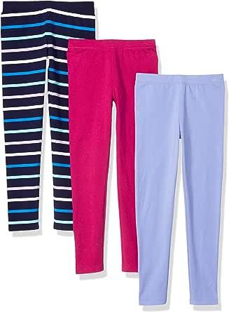 Amazon Essentials Paquete de 3 Leggings para niñas, Pack de 3