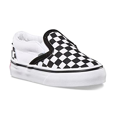 fc979630ef823d Vans Toddler Slip-On (CK2) (Checkerboard) Black True White VN000LYHCK2