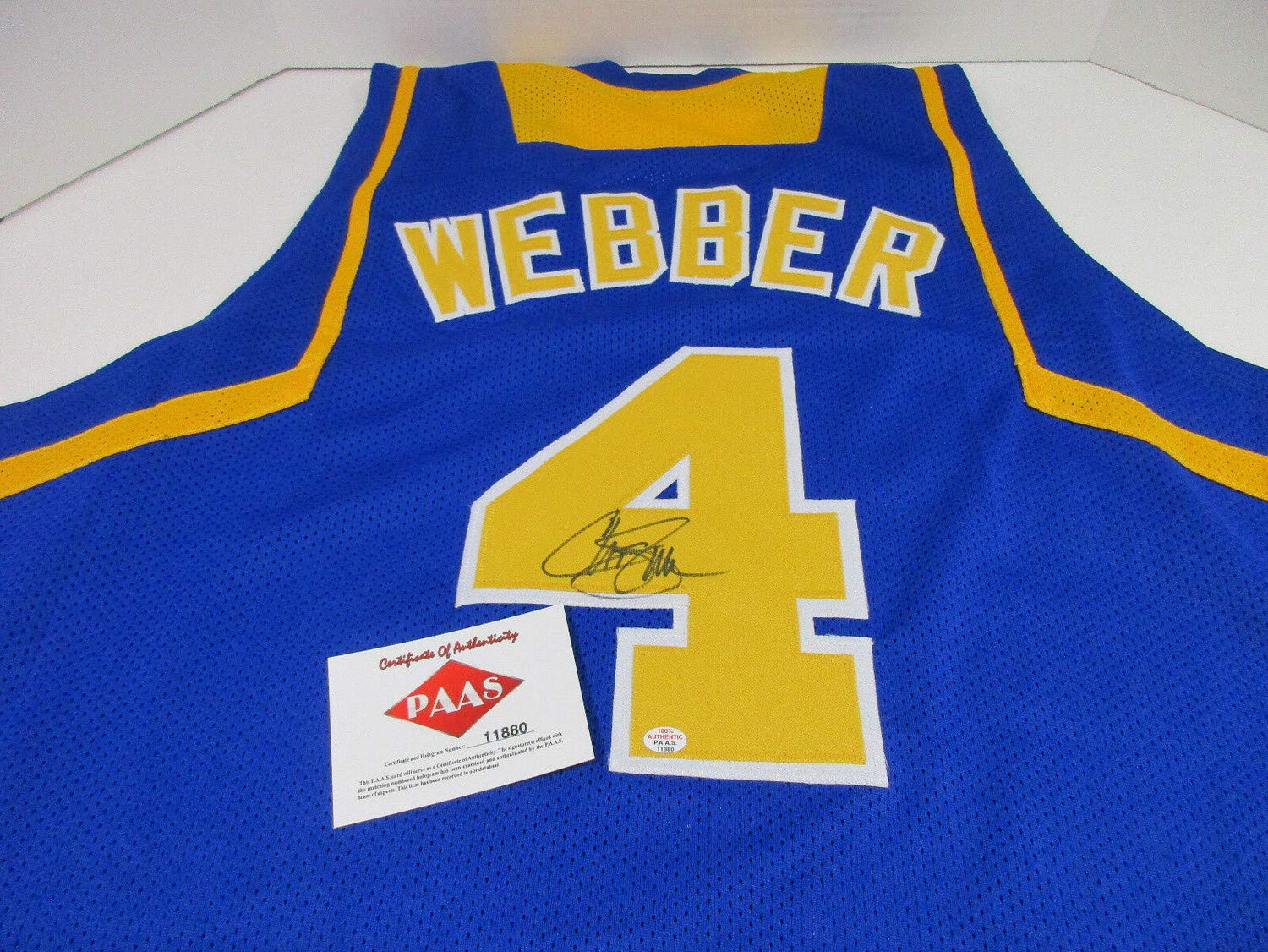 huge discount 51920 c8807 Chris Webber Michigan Wolverines Autographed Signed ...