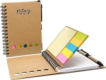 nitacy espiral cuaderno con bolígrafo en soporte para notas ...