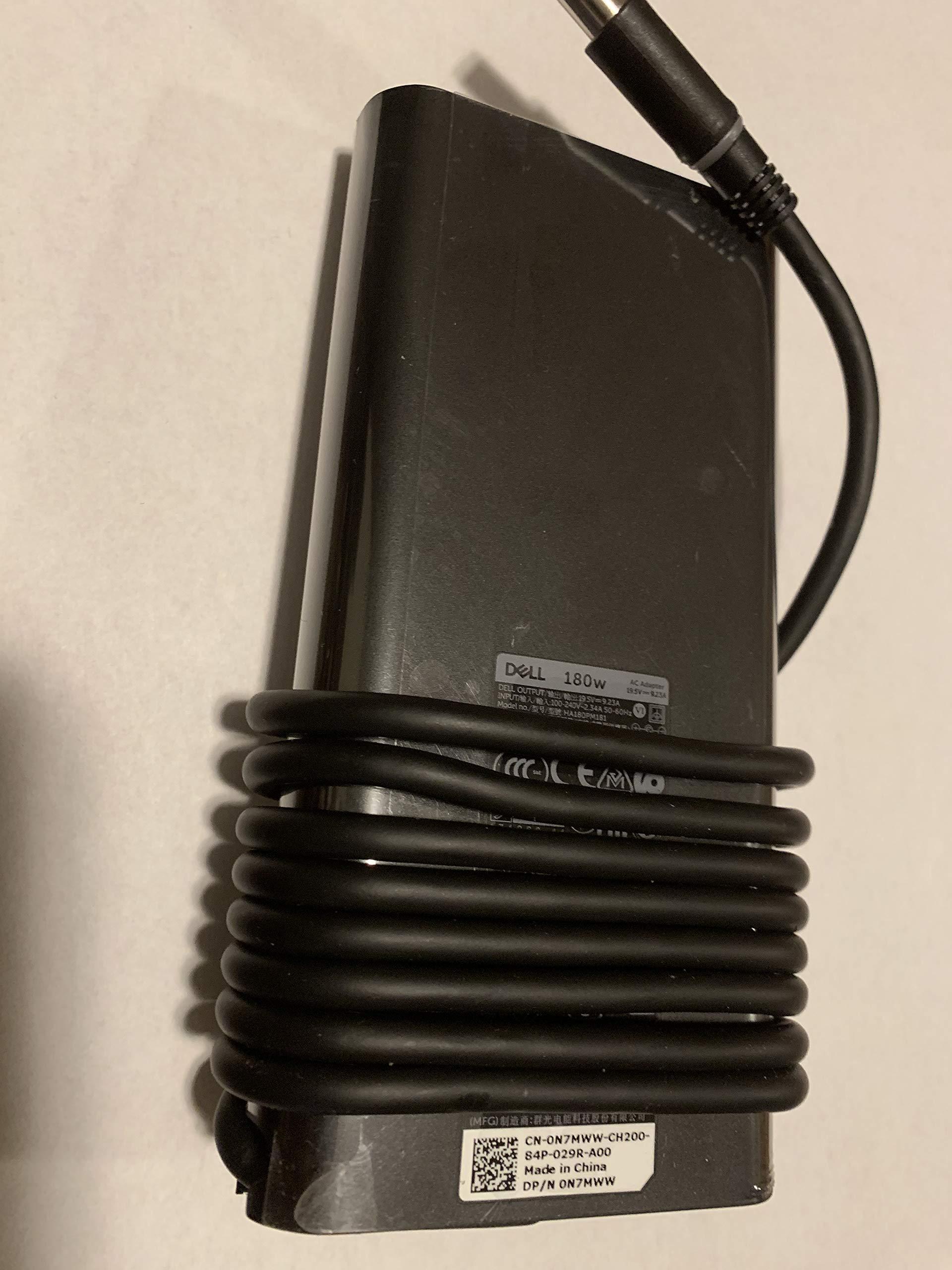 Dell 180W AC Adapter for Precision 7520, Alienware 15 R4, Alienware 17 R5, G7 15 (7588), G3 15 (3579) G3 17 (3779), G5 15 (5587), Inspiron 15 7000 Series (7577), Alienware M15. by Dell (Image #2)