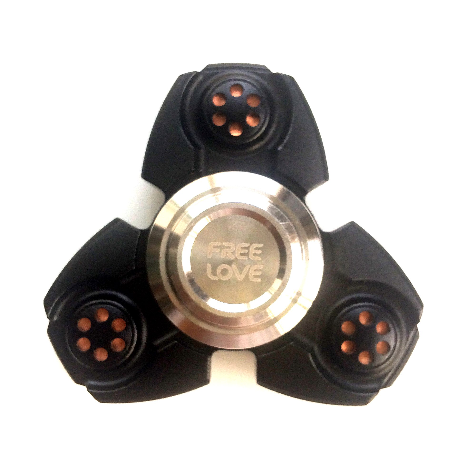 FREELOVE Russia UFO Triangle Design Fidget Spinner Toy Stress Reducer Premium EDC Disassemble Silicon Nitride Ceramic Bearing Helps Focus, Stress, Anxiety, ADHD (Aluminum Alloy Black, Aluminum Alloy) by FREELOVE (Image #6)