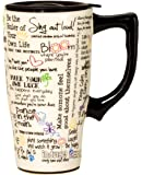 Spoontiques 12095 Positive Affirmations Travel Mug, 5.2 x 3.5 x 6.4 inches, White