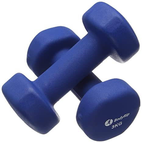 BodyRip - Mancuernas (Neopreno, 2 x 3 kg): Amazon.es: Deportes y ...