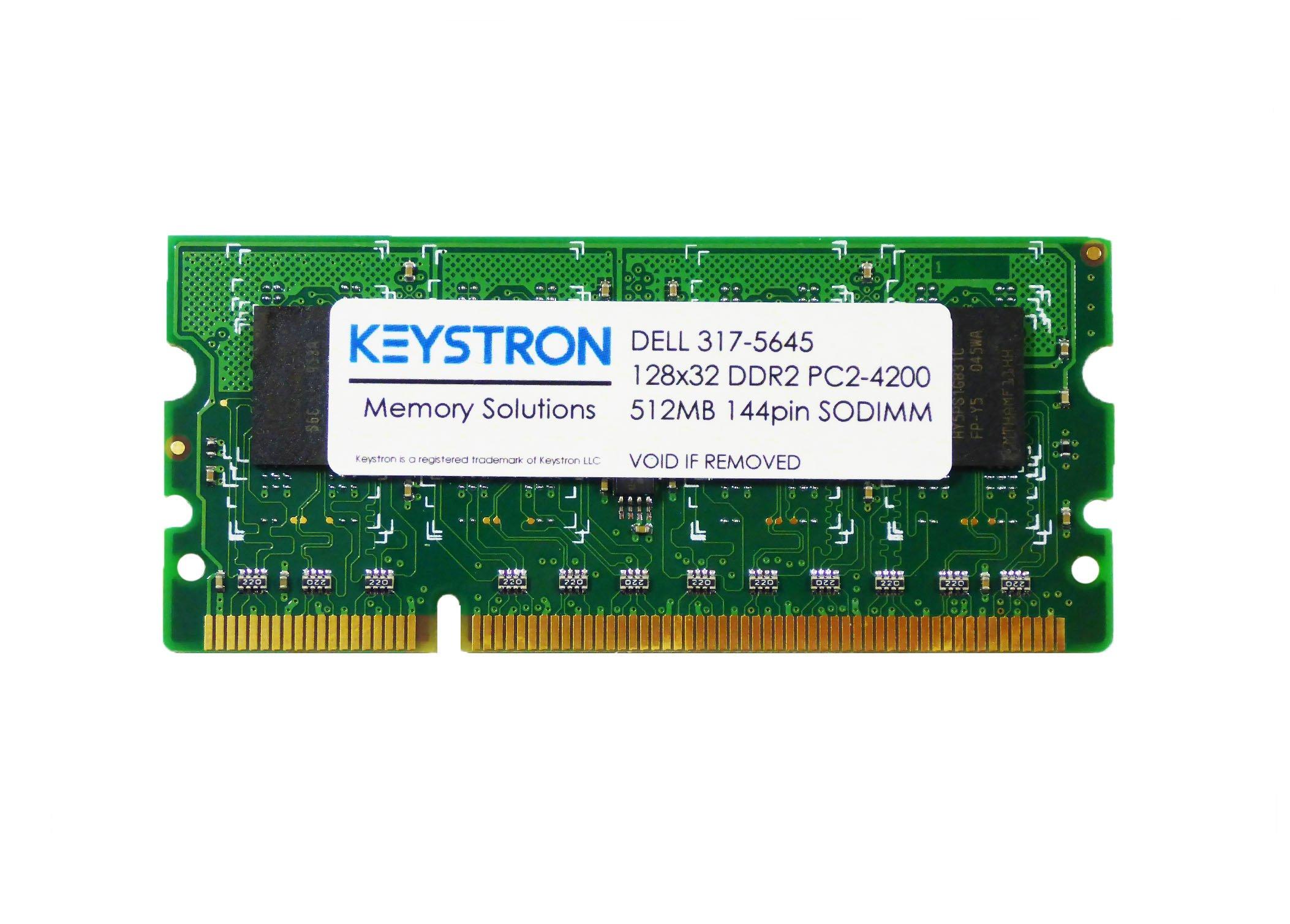 512MB Memory Upgrade for DELL Laser Color Printer 2150cn, 2150cdn, 2155cn, 2155cdn by Keystron