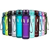 Super Sparrow Botella de agua deportiva - 500ml - Eco amigable y sin plasticos BPA - Color Orquídea, 500ml-17oz