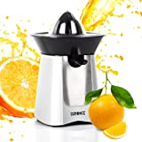 Duronic JE6SR Silver 100W Powerful Citrus Press Juicer / Juice Squeezer Extractor with Drip Free Spout