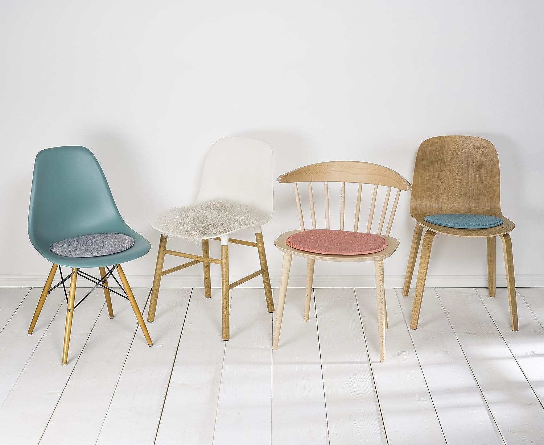 lot de 2 Coussins de chaise en feutre synth/étique Diam/ètre environ35/cm Avaro Ronds gris