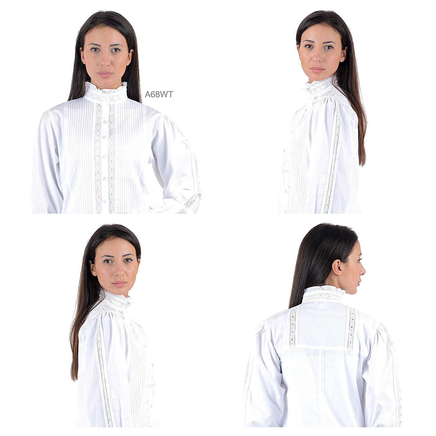 Cotton Lane White Blouses Womens Blouses