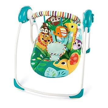 7ca583b2a Amazon.com   Bright Starts Safari Surprise Portable Swing   Baby