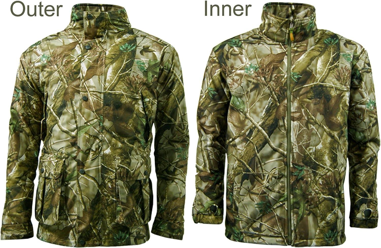 Game EN306 Stealth 3in1 Mens Camo hunting shooting Jacket with Inner Fleece