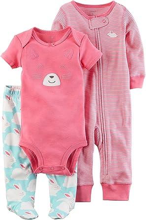 71071ad23 Amazon.com: Carter's Baby Girls' 3 Piece Bunny Set: Clothing