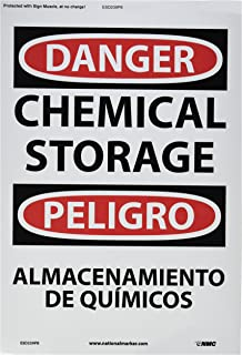 NMC ESD239PB Bilingual OSHA Sign, Legend