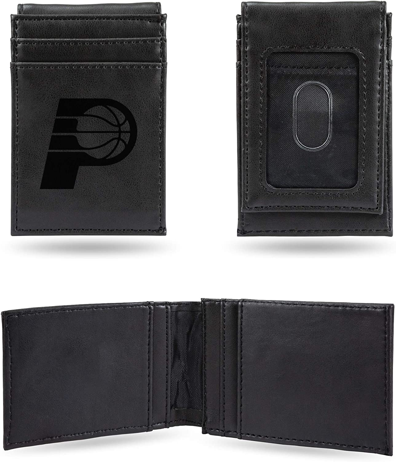 Indiana Pacers NBA Rico Industries  Laser Engraved Front Pocket Wallet