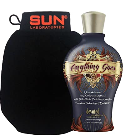 Devoted Creations ANYTHING GOES Bronzer Tanning Lotion 12.25 oz. by Devoted Creations Mad Hippie: Antioxidant Facial Oil, 1.02 oz (5 pack)