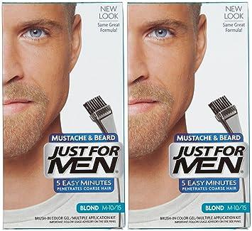 Amazon.com : Just For Men Brush-In Color Mustache & Beard - Blond ...
