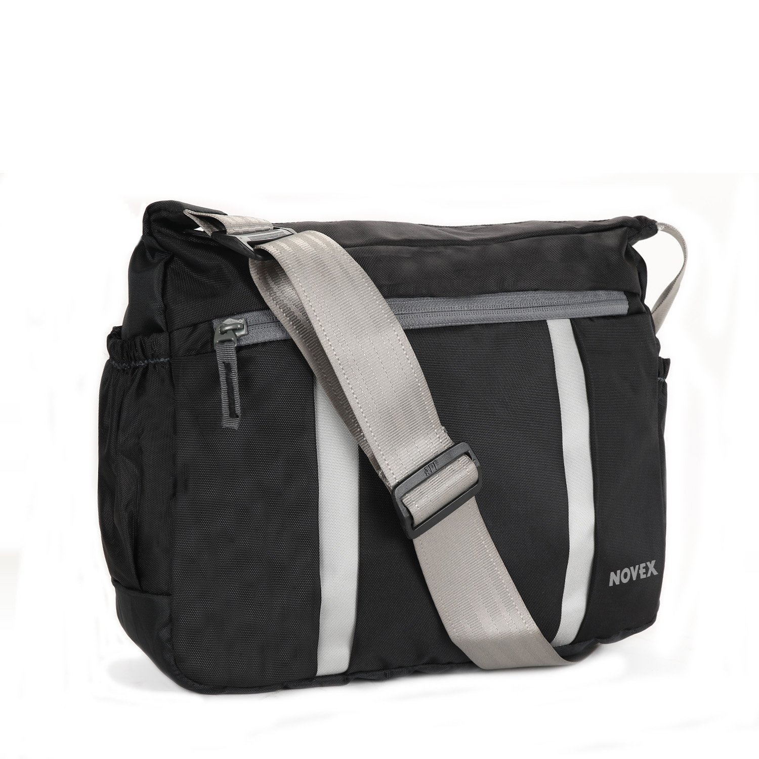 316d47a3d Buy Novex Evoq Polyester Sling Bag(Black) Online at Low Prices in India -  Amazon.in