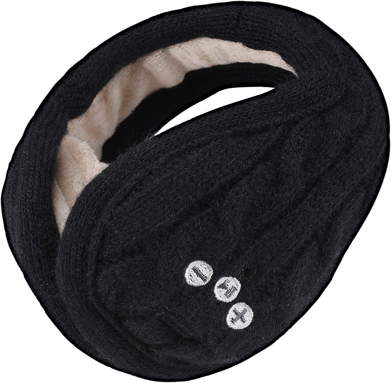 Ear Muffs, ASIILOVI Bluetooth 5.0 Kints Wireless Hands-Free Ear Warmers Headphones Earmuffs with HD Stereo Speakers and Mic-Unisex (Black)
