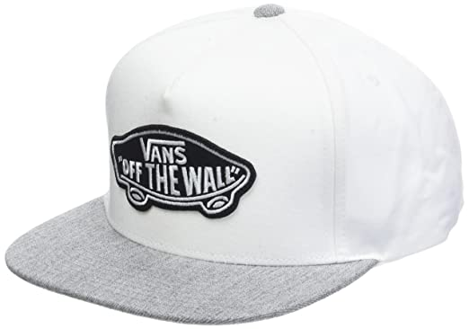 Vans_Apparel Classic Patch Snapback, Gorra de béisbol para Hombre, Blanco (White-Heather