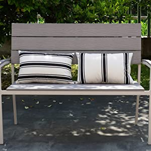 HOMFREEST Waterproof Pillow Covers 12×20 Outdoor Lumbar Throw Pillows Black and White Striped Pillowcases Set of 2 for Patio Furniture,Porch and Sunbrella