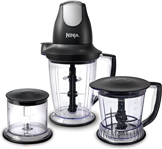 Ninja Blender/Food Processor with 450-Watt Base, 48oz Pitcher, 16oz Chopper Bowl, and 40oz Processor Bowl for Shakes, Smoothies, and Meal Prep ...