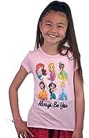 Disney Princess Be Yourself Belle Ariel Girls Kids T-shirt