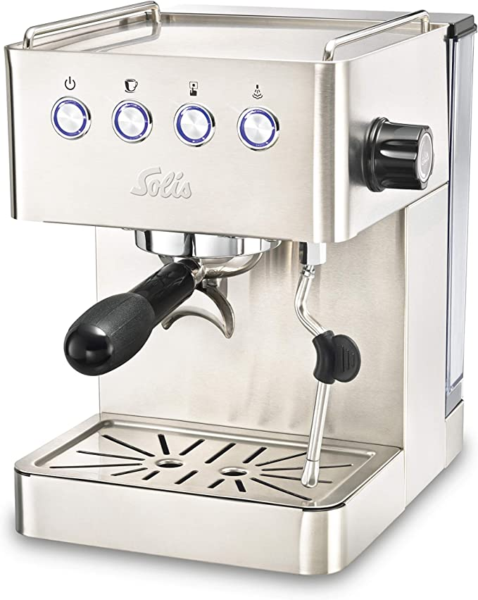 Solis Barista Gran Gusto 1014 - Cafetera expresso automática - 1,7 L - 15 bar - 1 o 2 tazas - Máquina de café expreso - Acero inoxidable: Amazon.es: Hogar