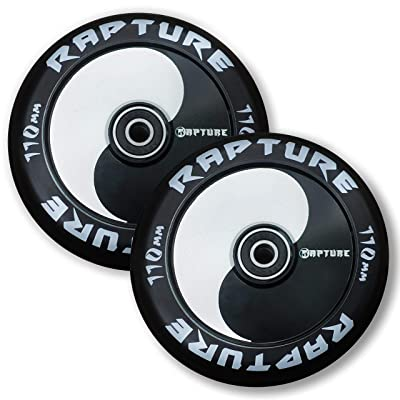 Rapture Pro Scooters - 110mm Pro Scooters Wheels - Yin Yang Wheels (Set of 2) - Bearings Installed : Sports & Outdoors