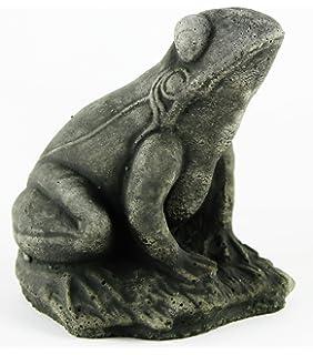 Amazon toad concrete garden statue cement frog sculpture cast frankie frog garden frog concrete garden statue cement toad figurine cast stone figure frogs sculptures workwithnaturefo