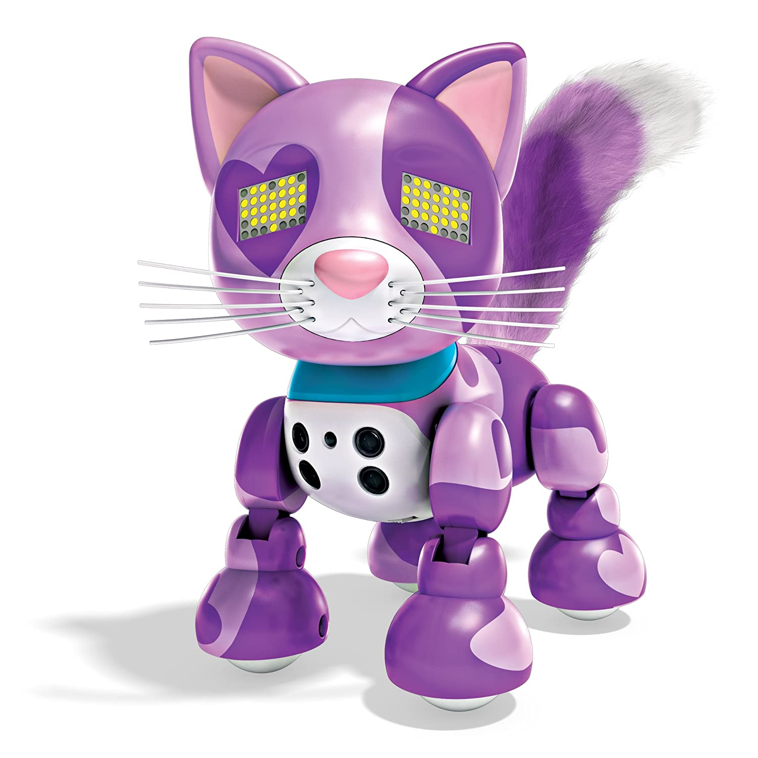 Interactive Kitten with Lights Sounds and Sensors by Spin Master 20074601-6031253 Viola Zoomer Meowzies