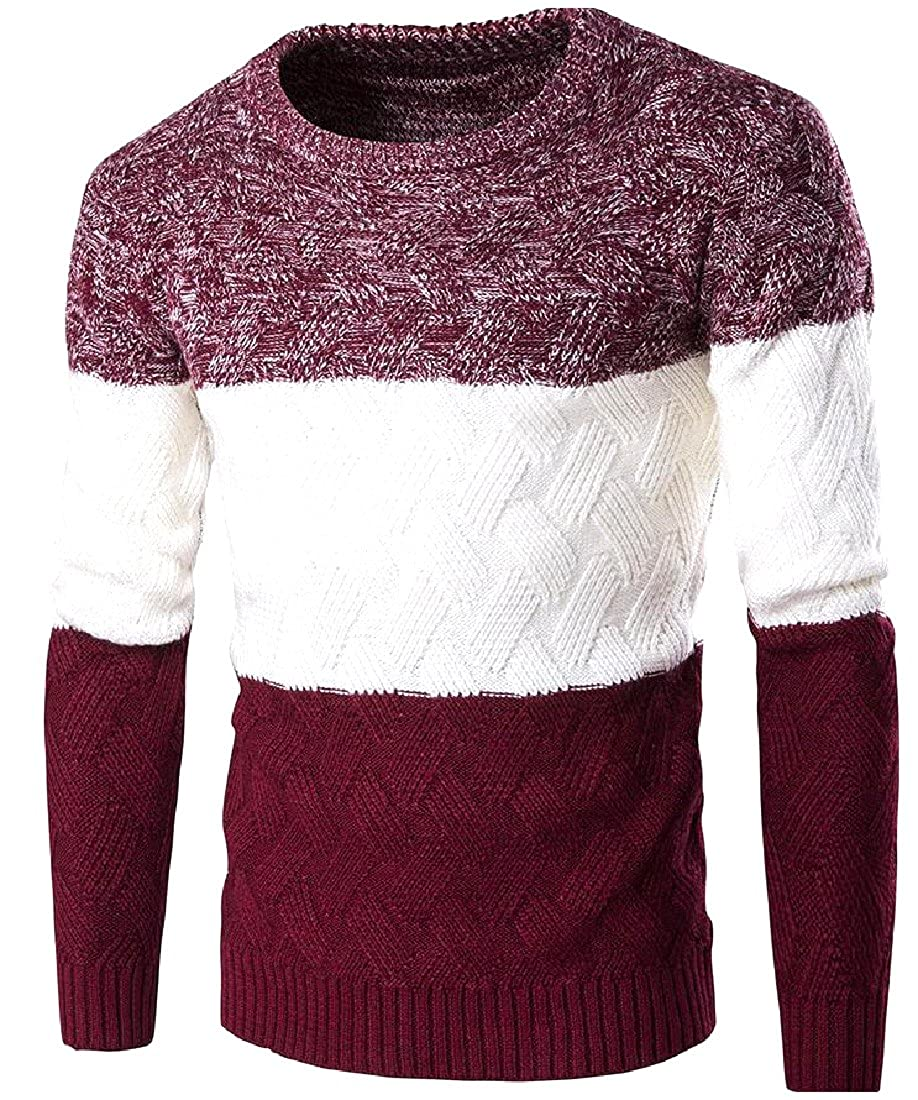 Honey GD Mens All-Match Breathable Slim Fitting Knitting Tunic Top
