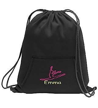 e0498e8c3 All about me company Personalized Dance Sweatshirt Cinch Bag with Kangaroo  Pocket (Jet Black)