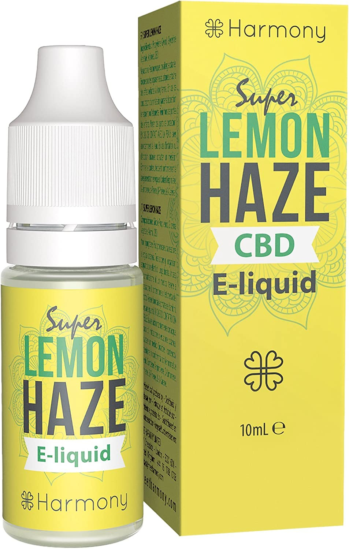 Harmony E-líquido de CBD (más de 99% pureza) - Terpenos de Super Lemon Haze - 100 mg CBD en 10 ml - Sin Nicotina