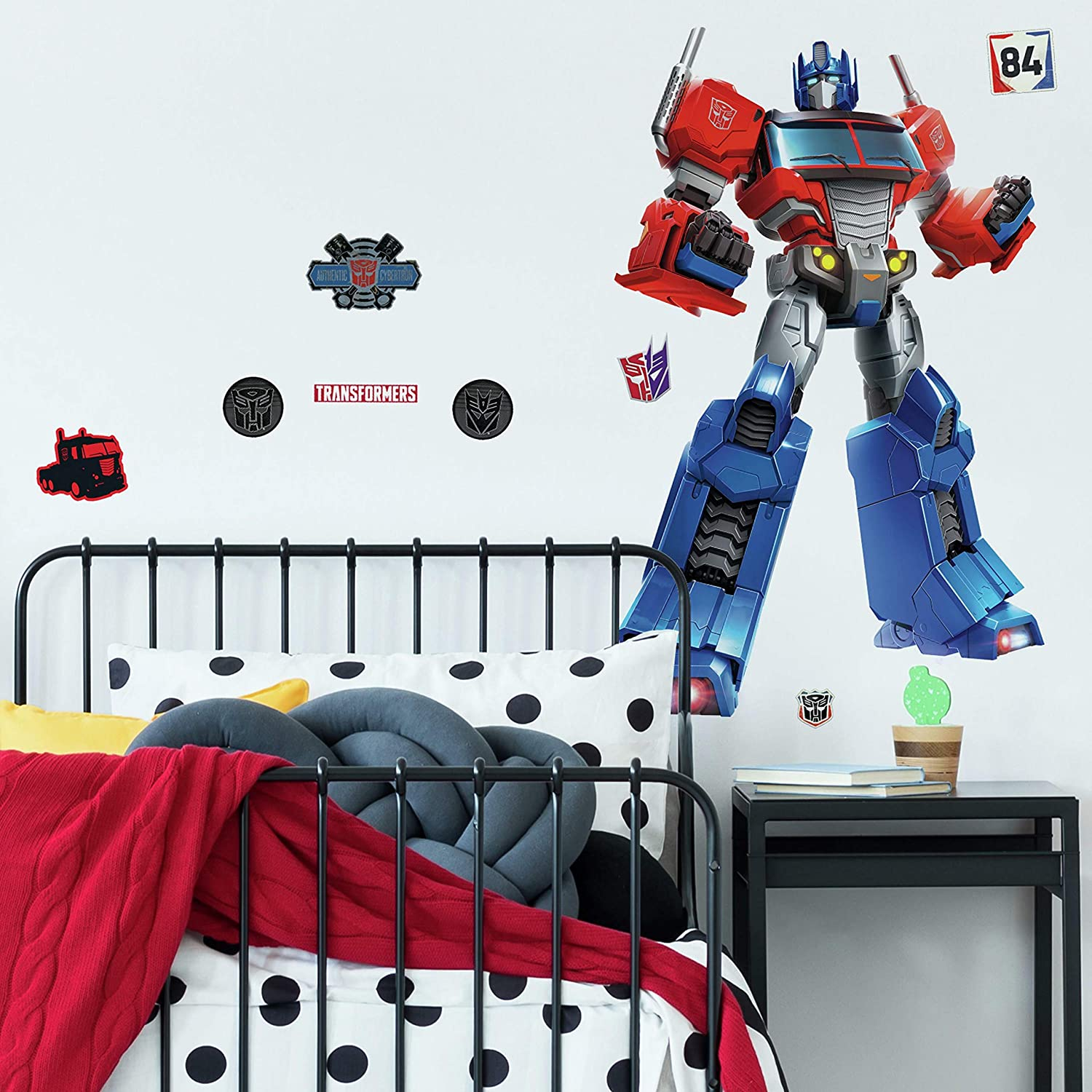 RoomMates Classic Optimus Prime Peel and Stick Giant Wall Decals