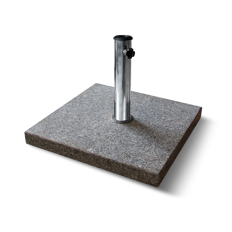 PARAMONDO Base di appoggio per ombrelloni in granito/quadrata