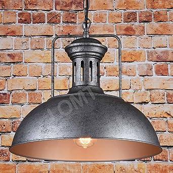 Farmhouse Suspension lumineuse bronze avec cha nes ajustables