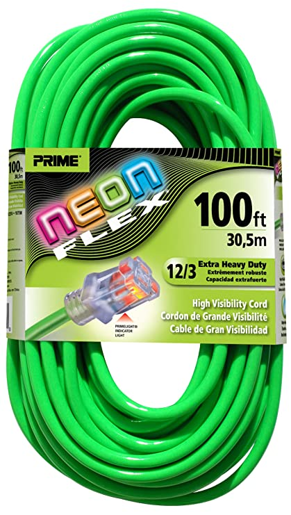 Prime Wire & Cable NS512835 100-Foot 12/3 SJTW Flex High Visibility ...