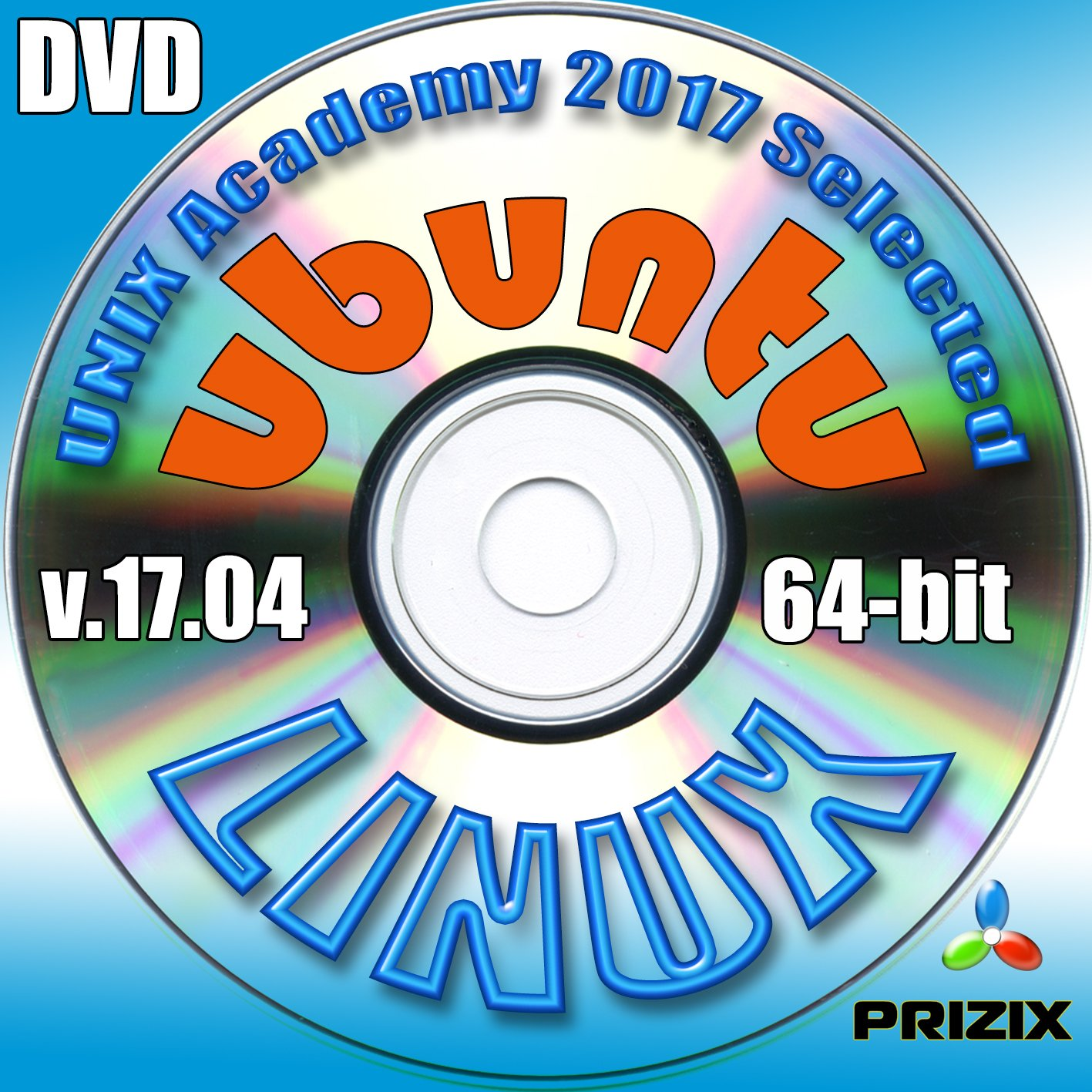 Linux on 16Gb USB Flash and 5-DVDs, Installation and Reference Set, Newest Linux Release 64-bit: CentOS 7, Ubuntu 17.04, Debian 9 and Fedora 26 by PRIZIX