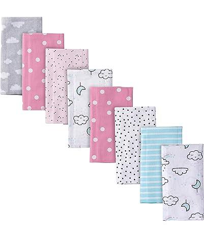 Gerber Baby Girls' 8-Pack Flannel Burp Cloth