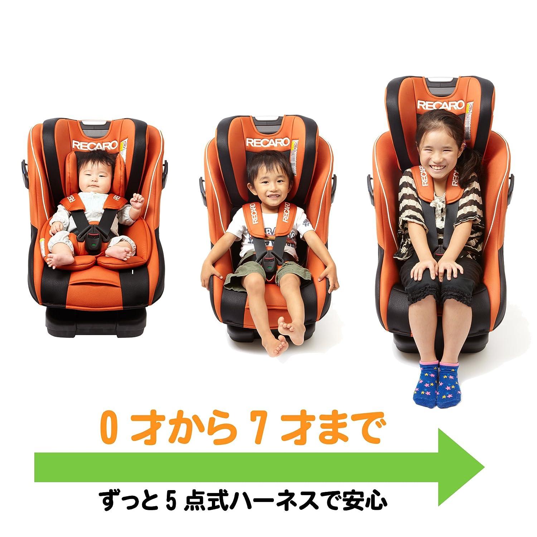 新生児から7歳まで使えるチャイルドシート