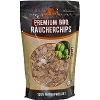 Premium Räucherchips für EIN besonderes Raucharoma - Räucherholz/Holzhackschnitzel - 100% natürliches Baumholz für einen einzigartigen Grillgeschmack – 3X 750g (Apfel, Buche, Kirsche)
