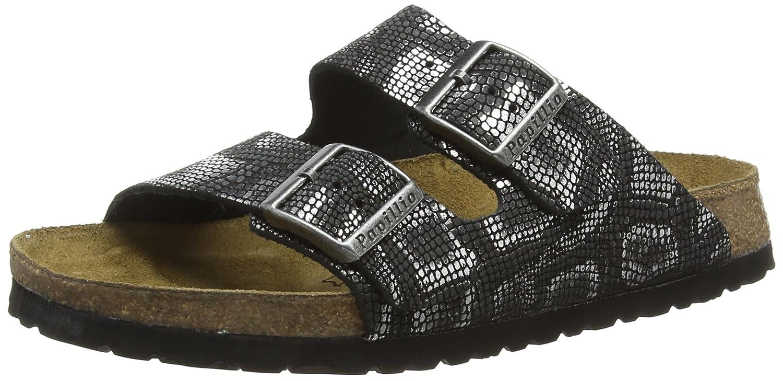 Birkenstock Arizona, Zapatos con Hebilla Unisex Adulto 38 EU|Negro (Royal Python Black)