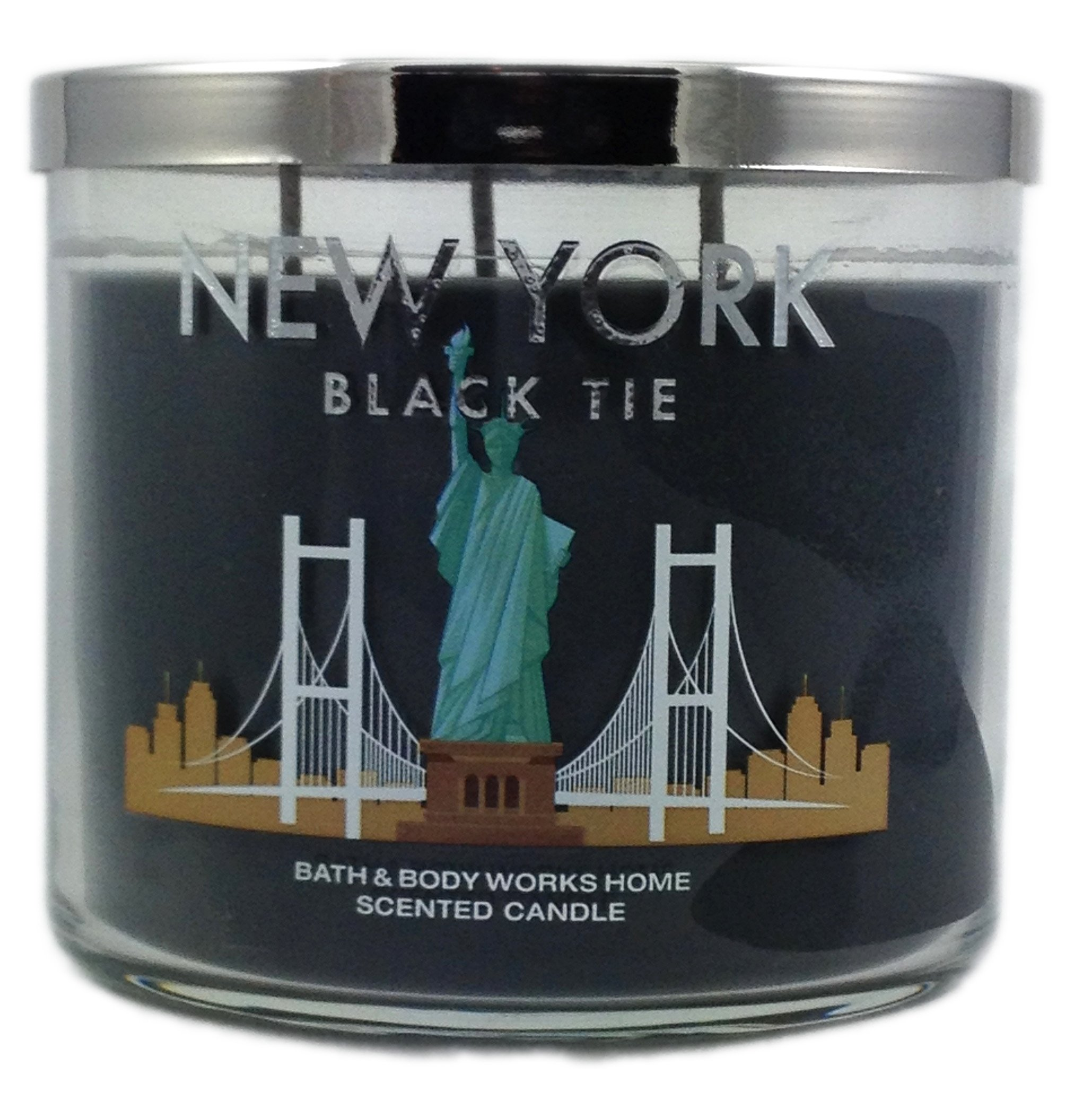Bath & Body Works Candle 3 Wick 14.5 Ounce 2015 New York Black Tie