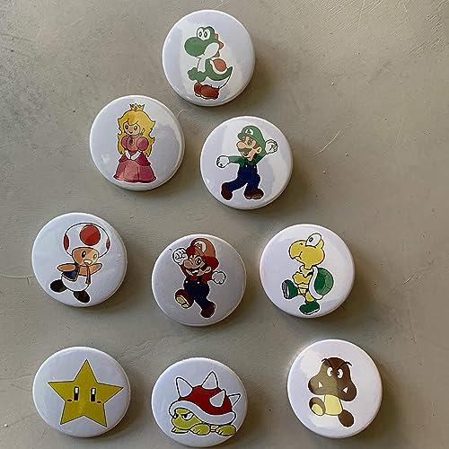 Chapas Super Mario Bros 9 unidades. Para bodas, comuniones ...