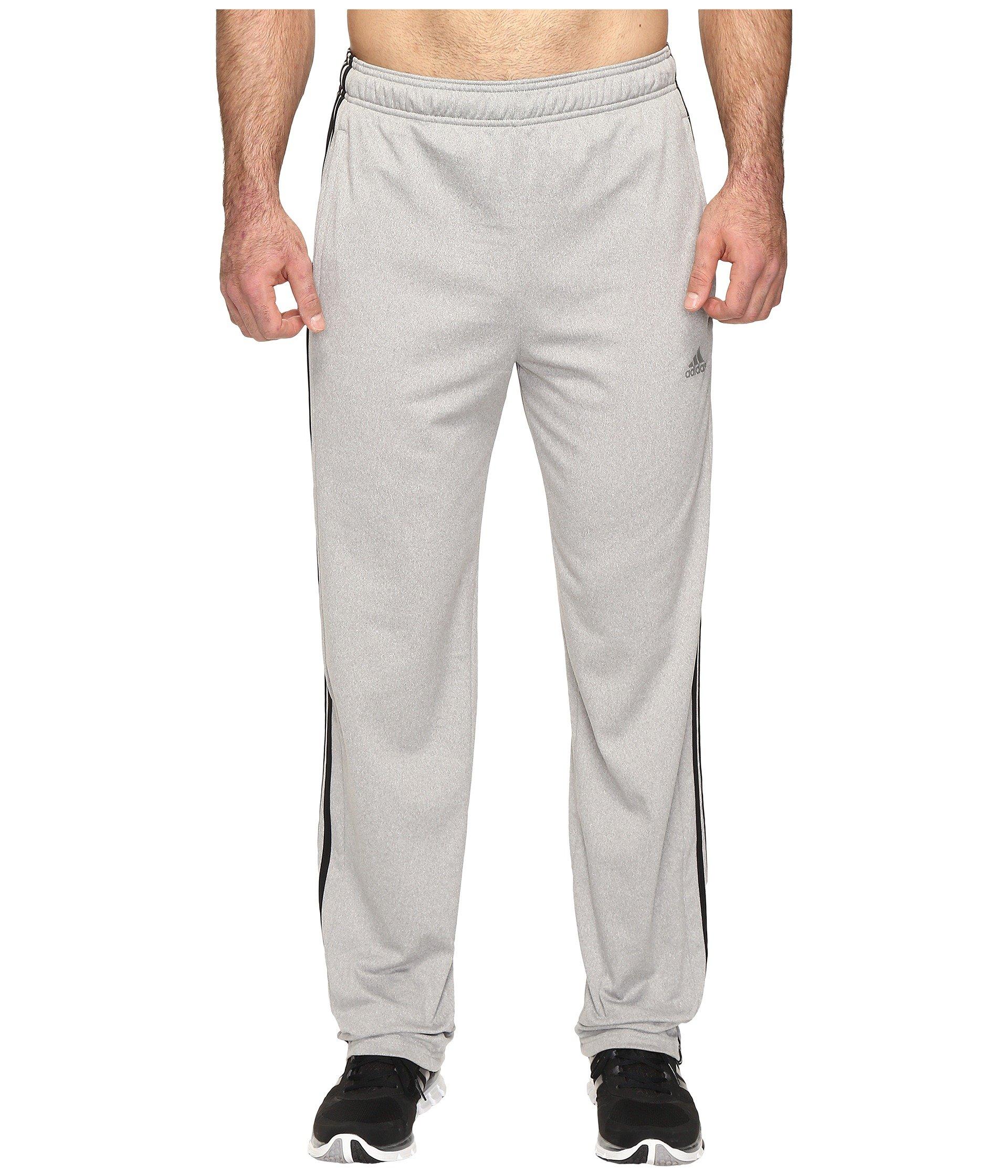 adidas Men's Essentials Track Pants (Extended Sizes), Medium Grey Heather/Black Heather, XXX-Large by adidas