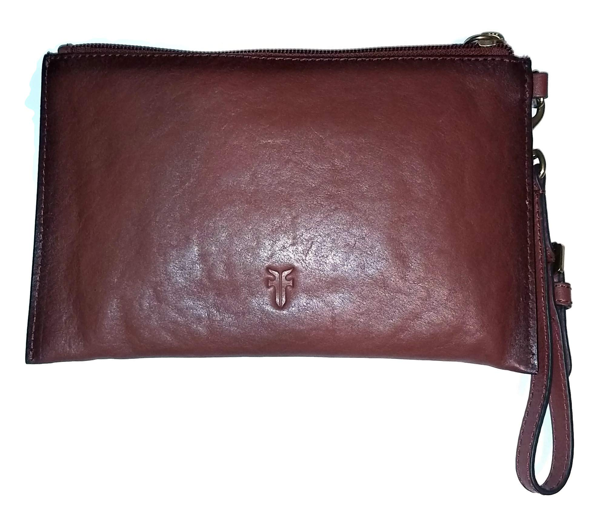 FRYE Wristlet DB0625 Smooth Leather Cognac/Brown Small