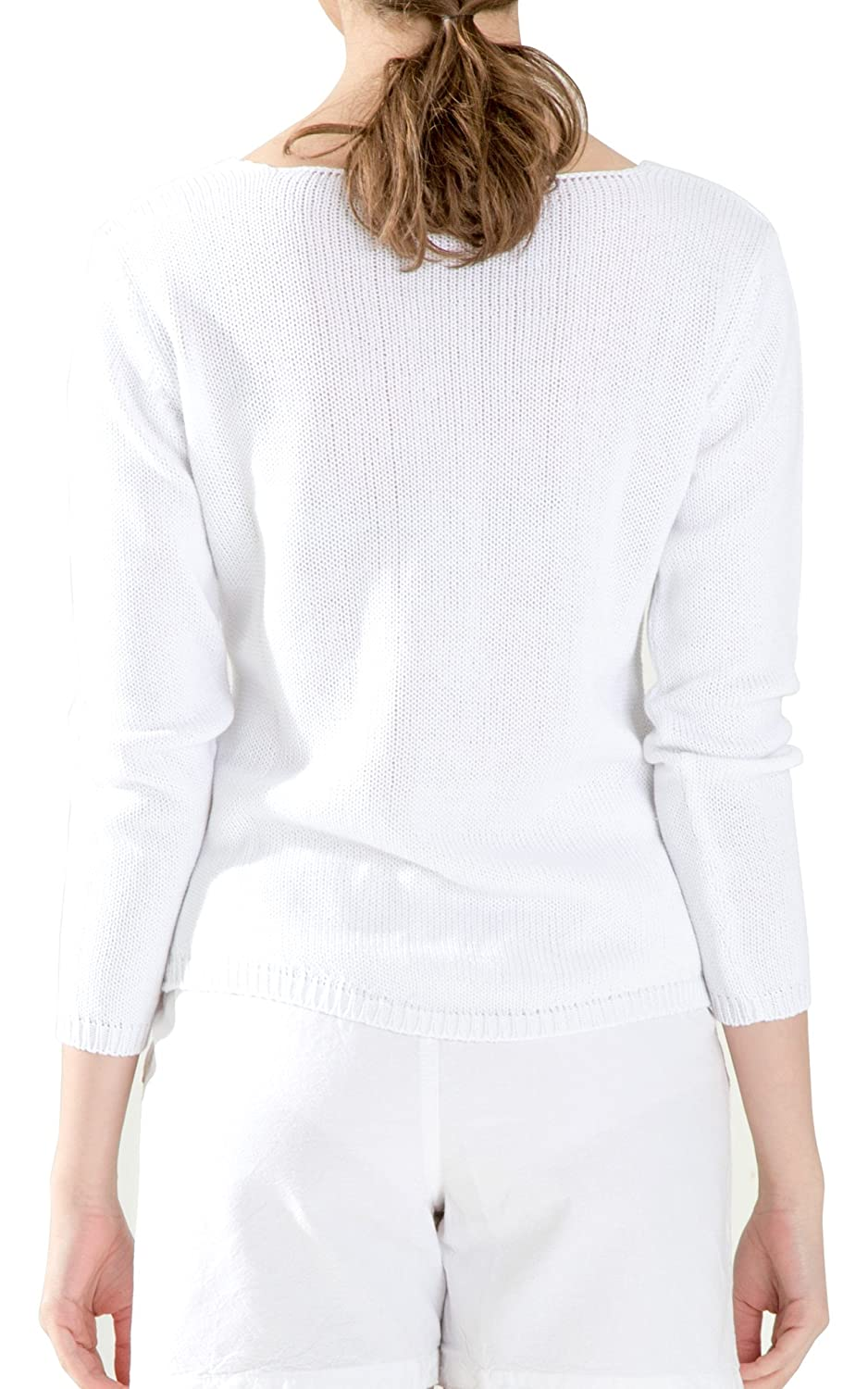 White by Nature Womens Star Knitted Cotton Sweater