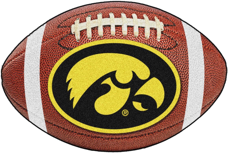 Fanmats Iowa Hawkeyes Football-Shaped Mats